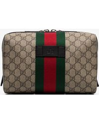ccdef62404 Gucci Monogram Gg Wash Bag in Gray for Men - Lyst