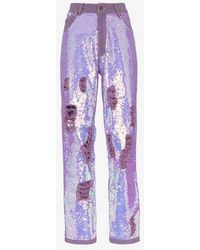 Ashish - X Browns Distressed Sequin Jeans - Lyst