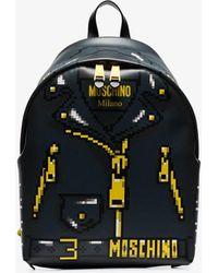 43589b86471e Moschino - Pixelated Jacket Print Backpack - Lyst