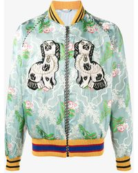 Gucci - Floral Jacquard Duchesse Bomber - Lyst
