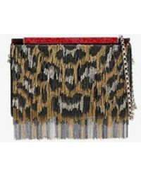 Christian Louboutin - Multicoloured Leopard Print Chain Vanite Bag - Lyst