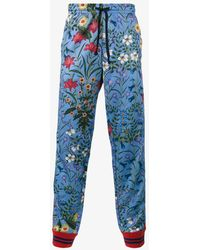 Gucci - New Flora Technical Jersey Trousers - Lyst