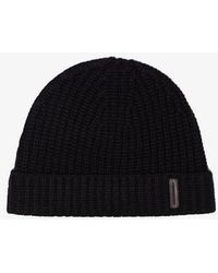 a98098b8079 Burberry Fisherman Rib Wool Cashmere Beanie in Brown for Men - Lyst