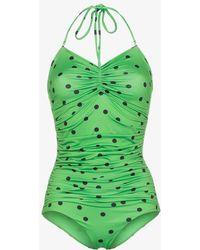 Ganni - Clover Polka Dot Swimsuit - Lyst