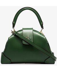 MANU Atelier - Jade Green Demi Top Handle Leather Handbag - Lyst