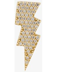 Anton Heunis - Gold And Diamond Lightning Bolt Earring - Lyst
