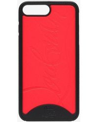 Christian Louboutin - Red And Black Logo Iphone 7 & 8 Plus Case - Lyst