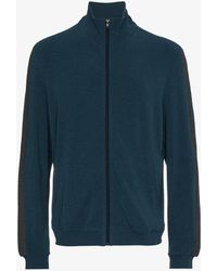 Lot78 - Cashmere Blend Ribbed Stripe Hoodie - Lyst