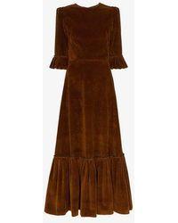 The Vampire's Wife - Ruffle-detail Corduroy Dress - Lyst