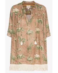 Chufy - Kinyei Animal Print Linen Top - Lyst