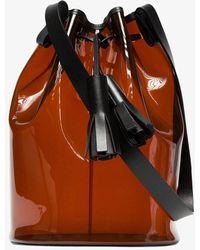 c5ac7b7e81 Prada Black Leather  large Bucket Bag  in Black - Lyst