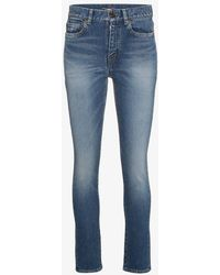 Saint Laurent - Mid Rise Skinny Jeans - Lyst