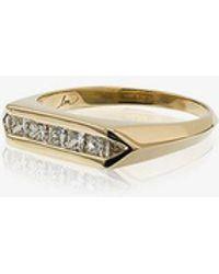 Lizzie Mandler - Trillion And Princess Diamond Wide Chevron Band - Lyst