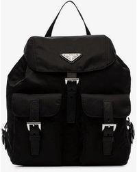 Prada - Black Robot Studded Leather Backpack - Lyst