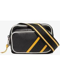 Givenchy - Black, White And Red Logo Contrast Trim Bum Bag - Lyst