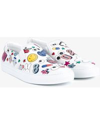 Anya Hindmarch - All Over Stickers Leather Sneakers - Lyst