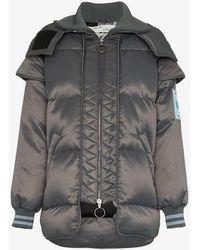 Off-White c/o Virgil Abloh - Hooded Puffer Jacket - Lyst