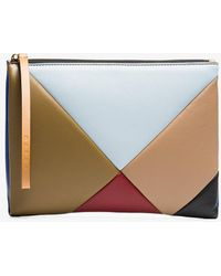 Marni - Multicoloured Geometric Leather Pouch - Lyst