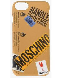 Moschino - Logo Warning Sign Iphone 6 Case - Lyst