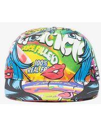 Moschino - Multicoloured Graphic Visor Cap - Lyst
