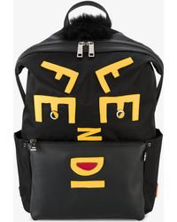 Fendi - Face Leather Applique Backpack - Lyst