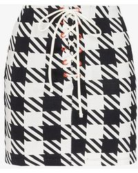 Solid & Striped - Delilah Houndstooth Skirt - Lyst