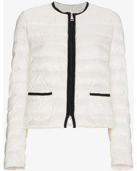 Moncler - Collarless Puffer Jacket - Lyst