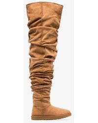 Y. Project - Brown X UGG Thigh High Slouch Fit Sheepskin Boots - Lyst