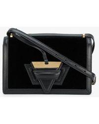 Loewe - Black Barcelona Velvet Box Bag - Lyst