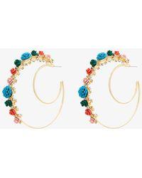DANNIJO - Gold Pillar Double Hoop Earrings - Lyst