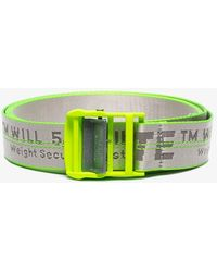 4b65babeebce0 Off-White c o Virgil Abloh - Grey Contrast Trim Parcel Tape Industrial Belt
