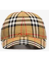 Burberry - Yellow, Black And Red Vintage Check Baseball Cap - Lyst