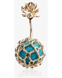 Yvonne Léon - Turquoise Mini Pineapple Gold Earring - Lyst