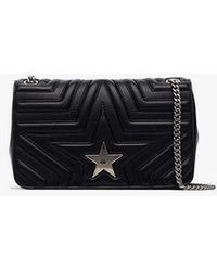 Stella McCartney - Navy Star Quilted Faux Leather Shoulder Bag - Lyst