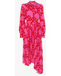 MSGM - Pleated Pussy Bow Dress - Lyst