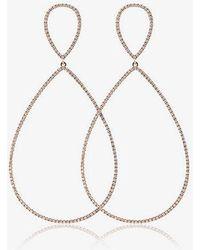 Rosa De La Cruz - 18k Rose Gold And Diamond Teardrop Earrings - Lyst