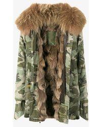 Mr & Mrs Italy - Raccoon Fur Camouflage Field Jacket - Lyst