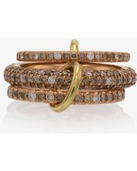 Spinelli Kilcollin - Rose Gold Nova Diamond Ring - Lyst