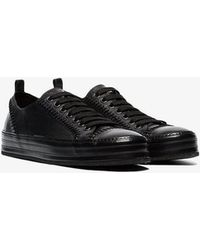 Ann Demeulemeester - Leather Stitch Detail Sneakers - Lyst