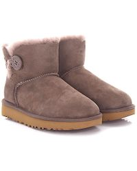 Ugg | Boots Mini Bailey Button 2 Suede Lilac Lamb Fur | Lyst