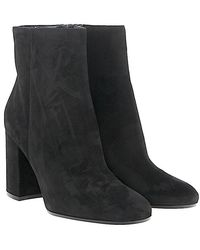 Gianvito Rossi - Ankle Boots Rolling 85 Suede Black - Lyst
