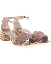 94880cea5e6 Agl Attilio Giusti Leombruni - Sandals D631052 Satin Bronze Leather  Metallic - Lyst