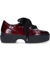Agl Attilio Giusti Leombruni - Flat Shoes Lace Up Shoes D925095 Calfskin Laminated Purple - Lyst