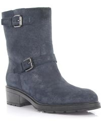 Hogan - Boots 0830 Suede Blue Finished Lambskin - Lyst