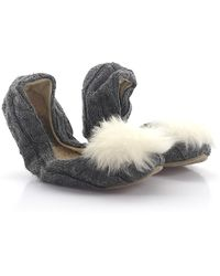 Ugg | Foldable Ballerina Slippers Andi Knitted Grey Puschel | Lyst