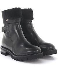 Agl Attilio Giusti Leombruni - Agl Boots Leather Black Fur - Lyst