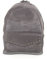 Jimmy Choo - Backpack Cassie Suede Grey Rivets Gold - Lyst