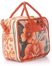 0c55cb64f646 Balenciaga - Handbag Shoulder Bag Blanket Square S Leather Orange Flower  Print - Lyst