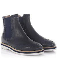 Agl Attilio Giusti Leombruni - Agl Boots D72150 Leather Blue Lyra-perforation - Lyst