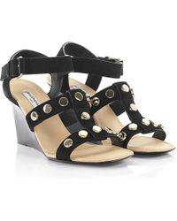 Balenciaga - Strappy Studded Leather Sandals - Lyst